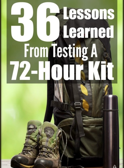 Překlad: 36 ponaučení z testování mého 72-hodinového kitu – ze stránek thesurvivalmom.com
