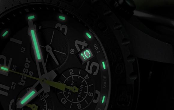Švýcarské hodinky Traser s osvětlením Trigalight – PR článek